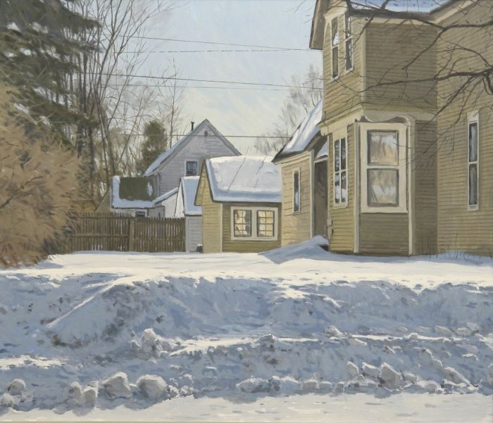 "Fred Anderson""House on Second Ave,"" 2012oil on panel30 x 35Ó"