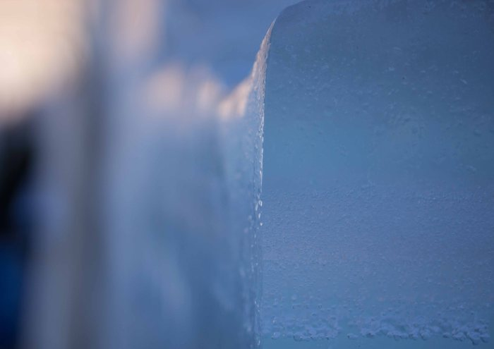 Sometimes we build walls with ice.